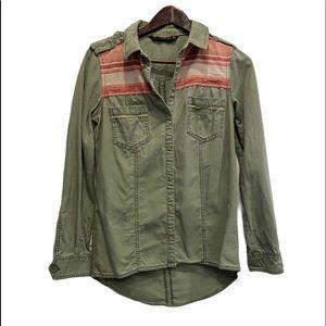 ZARA Trafaluc Button Western Shirt Size Small GUC